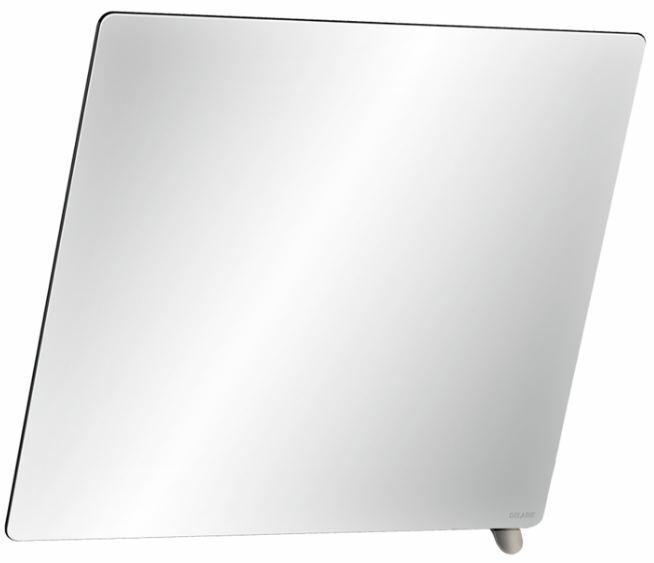 DELABIE keret nélküli dönthető tükör metallizált antracit színű alsó döntőkarral, 20°-ban állítható, 6 mm vastag biztonsági üveggel, 600x500 mm