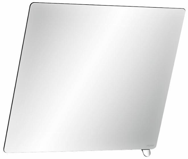 DELABIE keret nélküli dönthető tükör fényes színű alsó döntőkarral, 20°-ban állítható, 6 mm vastag biztonsági üveggel, 600x500 mm
