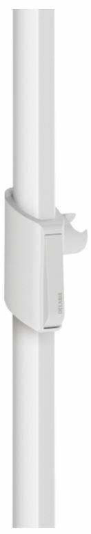 DELABIE zuhanyfej tartó Be-Line kapaszkodóra - gombnyomással vagy a zuhany lehúzásával csúsztatható, fehér