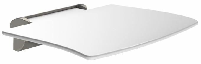 DELABIE Be-line felhajtható zuhanyzó ülőke láb nélkül, 450x455mm, levehető, alumínium, antracit konzollal
