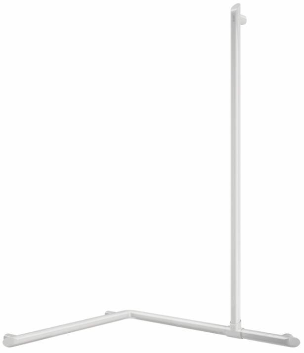 DELABIE Be-Line exkluzív sarokkapaszkodó zuhanyzóba felszálló ággal, fehér, 695x695x1130mm