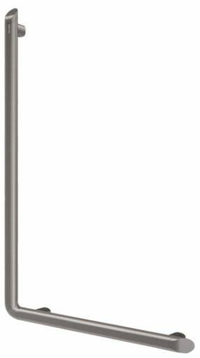 DELABIE Be-Line exkluzív 90°-os L-alakú kapaszkodó, D=35mm alumínium, antracit, 450x750mm