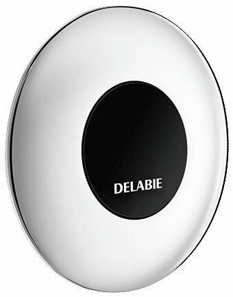 DELABIE TEMPOMATIC infra vezérlésű WC öblítőszelep szervizfolyosós szereléshez, max 225 mm falra, hálózati