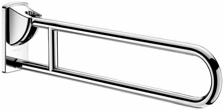 DELABIE felhajtható kapaszkodó, r.m. acél, UltraPolish fényes, lecsapódásmentes, 850mm