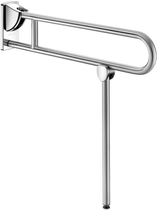 DELABIE felhajtható kapaszkodó lábbal, r.m. acél, UltraSatin selyem, lecsapódásmentes, 850mm
