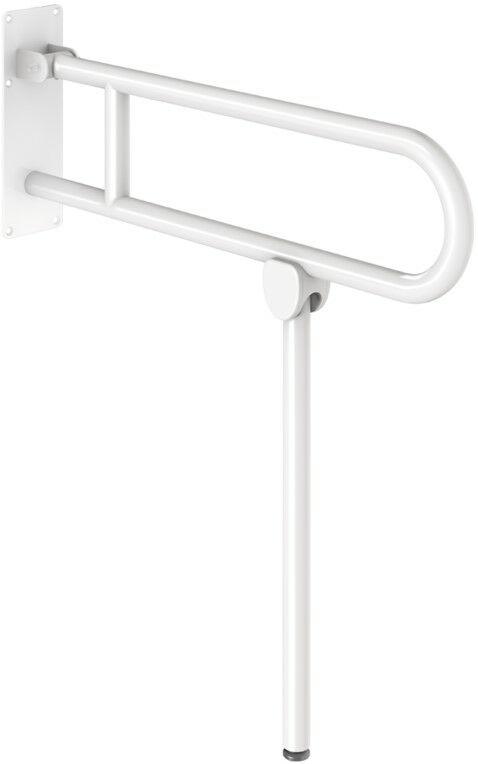 DELABIE Basic felhajtható kapaszkodó lábbal, r.m. acél, fehér, 760mm