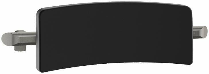 DELABIE Be-Line Comfort háttámla zuhanyülőke és WC mögé, fekete PU háttámasz antracit alumínium vázon