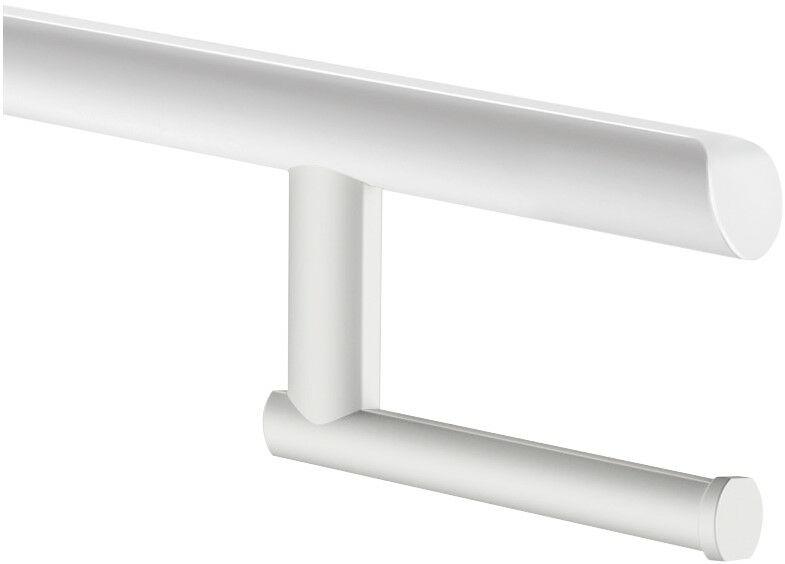 DELABIE Be-Line felhajtható kapaszkodókra rögzíthető WC-papír tartó, alumínium, fehér