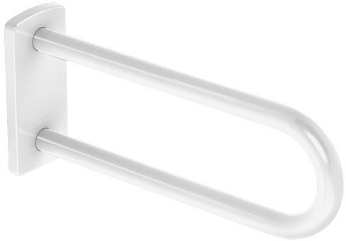 DELABIE fali fix kapaszkodó, U-alak, megerősített hátfal, NylonClean fehér nylon bevonatú acél, D=32mm, 650mm