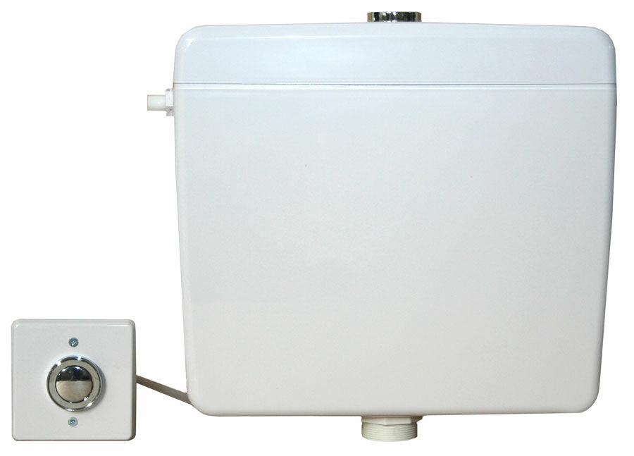 Pneumatikus működtetésű WC tartály szett, falon belüli/kívüli nyomógombbal
