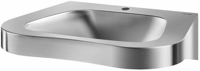 DELABIE FRAJU PMR mozgássérült mosdó, konkáv, fali, 35mm középső csapfurattal, r.m. acél