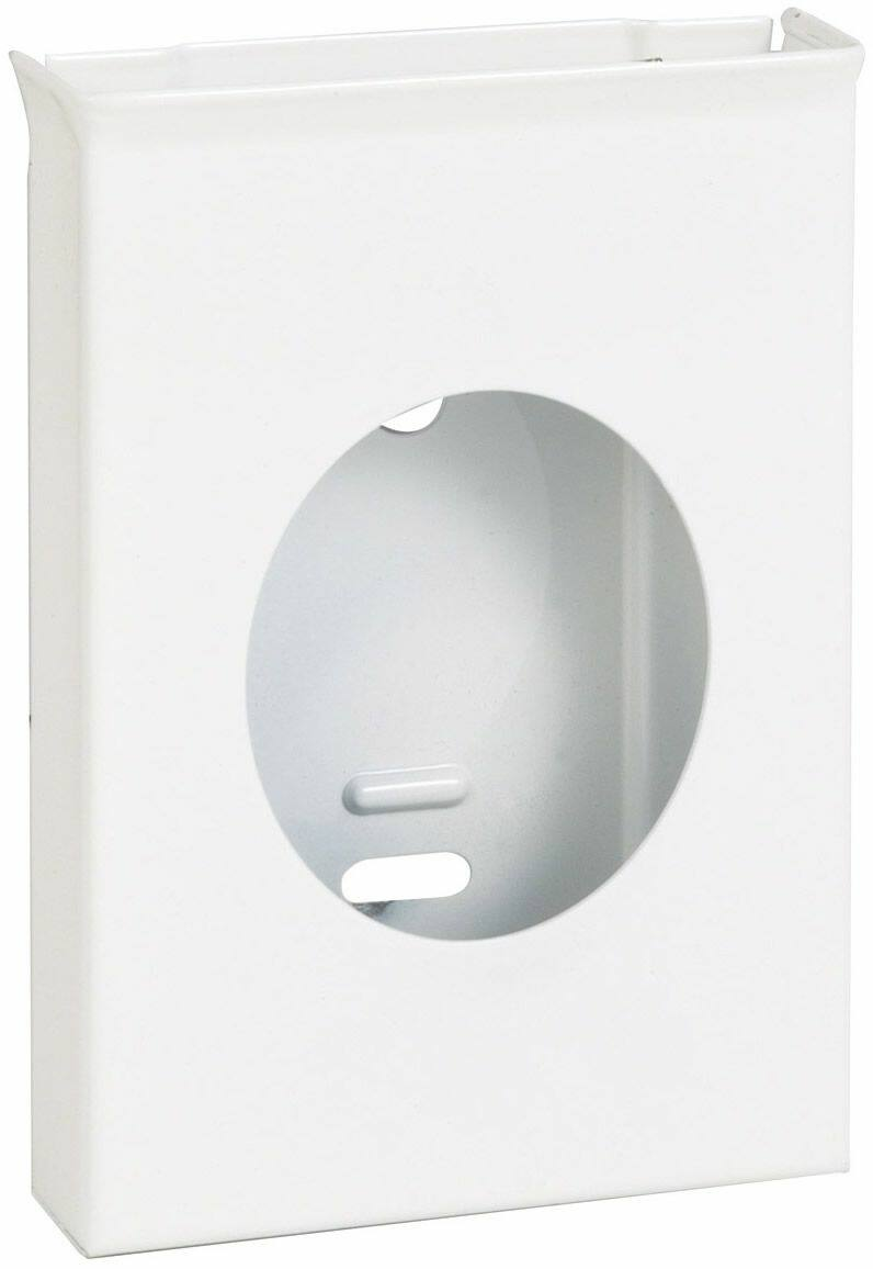 Fali intim hulladékgyűjtő tasak adagoló, 25db-os csomaghoz, acél, fehér