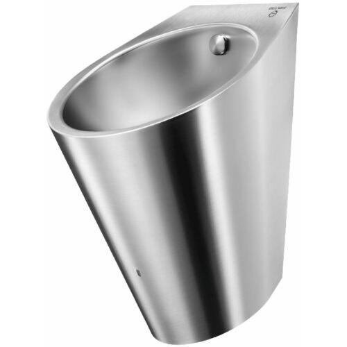 DELABIE DELTA HYBRIMATIC r.m. acél piszoár beépített automata nedvességérzékelős öblítővel, hátsó bekötés, selyem, 1,2 mm