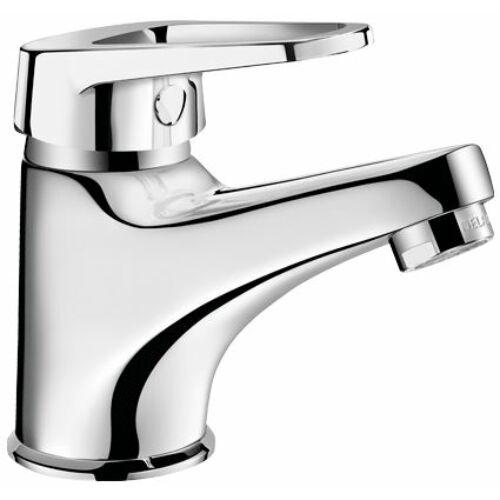 DELABIE kézi karos mosdócsaptelep hideg-meleg vízre lyukas keverőkarral, álló, 5 l/p, 40 mm-es kifolyási magassággal, 115 mm hosszú fix vízkőtaszító kifolyóval, megerősített rögzítéssel