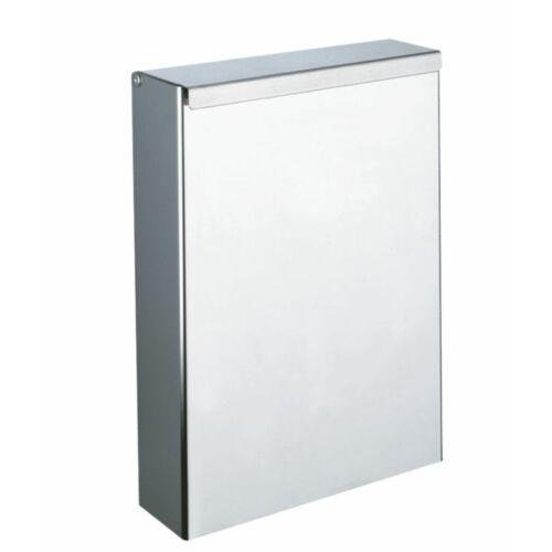 DELABIE fali fedeles intim hulladékgyűjtő, keskenyített kialakítás, 4,5 liter, 1 mm vastag r.m. acél, fényes