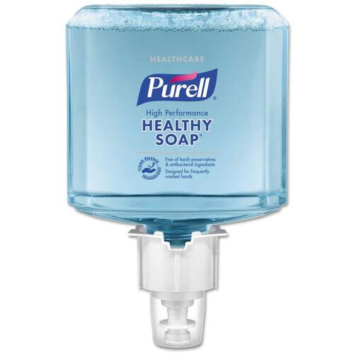 PURELL ES4 HEALTHY SOAP selymes, illatmentes habszappan utántöltő patron, extra higiénikus tisztítóhatással, ES4 PURELL Soap manuális rendszerhez, 1200 ml