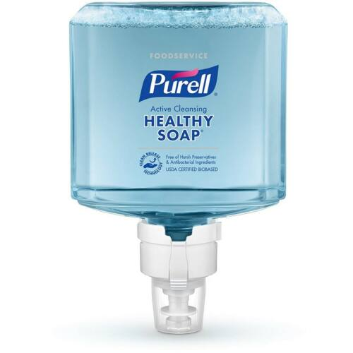 PURELL ES8 HEALTHY SOAP selymes, friss illatú habszappan utántöltő patron ENERGY-ON-THE-REFILL integrált elemmel, extra higiénikus tisztítóhatással, ES8 PURELL Soap automata rendszerhez, 1200 ml