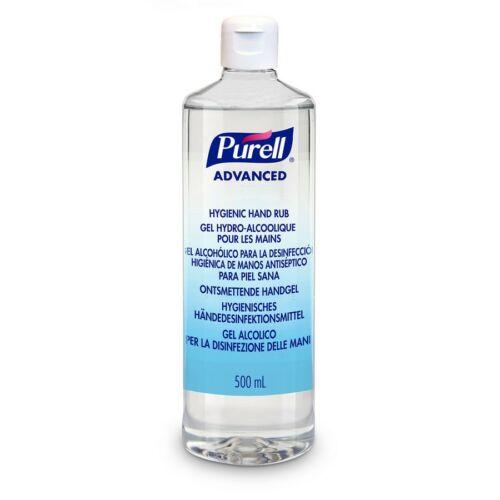 PURELL Advanced kézfertőtlenítő gél - virucid, fungicid, baktericid, mikobaktericid, OTH engedély, kupakos flakon, 500 ml