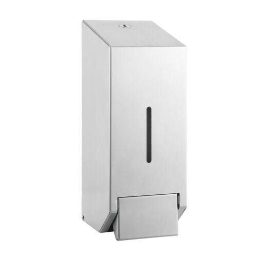 Vandálbiztos folyékonyszappan adagoló, rendszerkulccsal zárható, ergonómikus házzal, belső műanyag tartállyal, r.m. acél, selyem, Silk Touch ujjlenyomatmentes felülettel, 1 liter