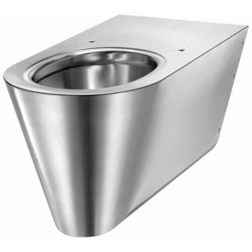Rozsdamentes acél akadálymentes wc csésze, 700 mm, fali, hátsó kifolyású