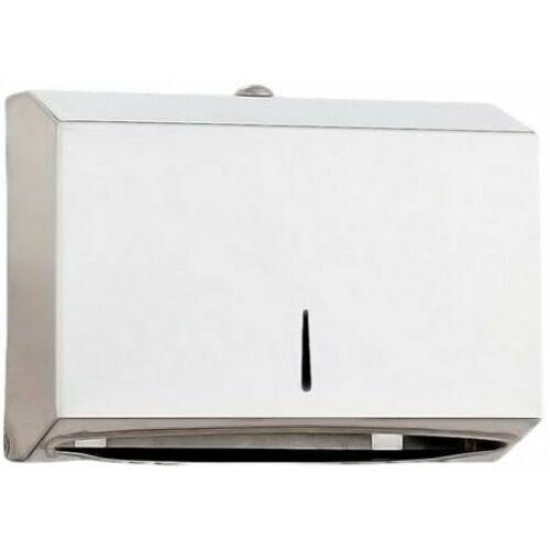 C/Z hajtott papírkéztörlő adagoló, mini, acél, fehér, Classic