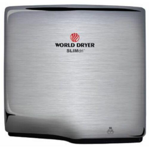 L-973 WORLD DRYER SLIMdri automata kézszárító, r.m. acél, selyem, 950 W, 10-12 mp, 83 dB