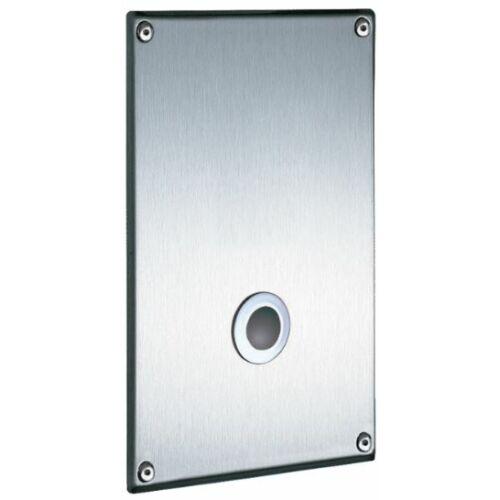 DELABIE TEMPOMATIC infra vezérlésű WC öblítőszelep hálózati vízre, vandálbiztos előlappal, elzárócsappal, vákuum megszakítóval, 230V