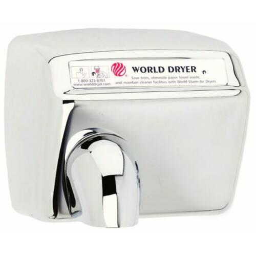 DXA548-972 World Dryer Model A automata kézszárító, r.m. acél, fényes, 2300W