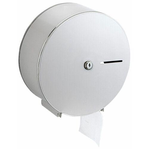 Nagytekercses, közületi WC-papír tartó, r.m. acél, matt, D=275mm, Silk Touch ujjlenyomatmentes felülettel