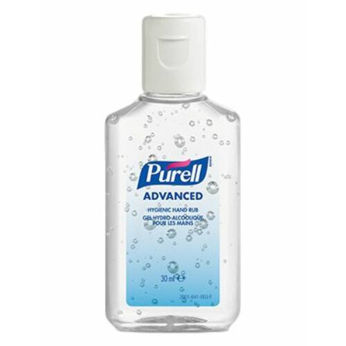 PURELL Advanced kézfertőtlenítő gél, 30 ml-es flakon, kupakos