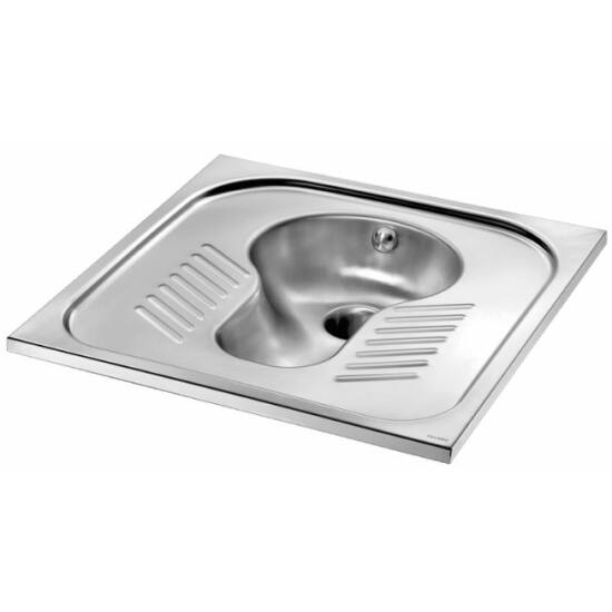 Pottyantós WC csésze rozsdamentes acél szifonnal - Török WC, r.m. acél, 1,2 mm falvastagság