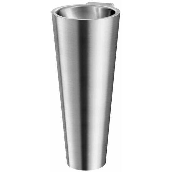 DELABIE BAILA lábon álló, kúp alakú kézmosó, rozsdamentes acél, selyem, 0,8 mm lemezvastagsággal, csapfurat nélkül
