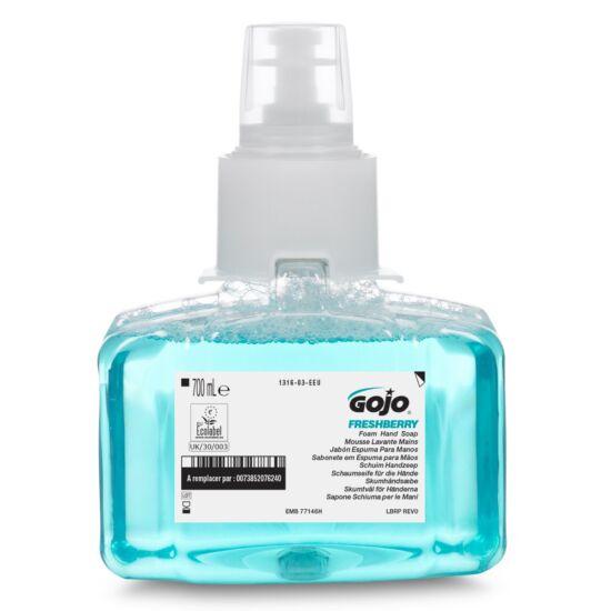 GOJO Freshberry habszappan utántöltő patron, gránátalma illat, bőrápolót tartalmaz, LTX, 700 ml
