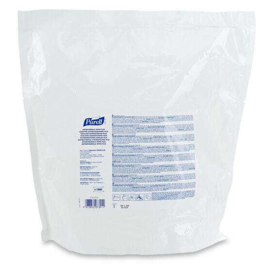 PURELL antimikrobiális törlőkendő PLUS, 1200 db-os