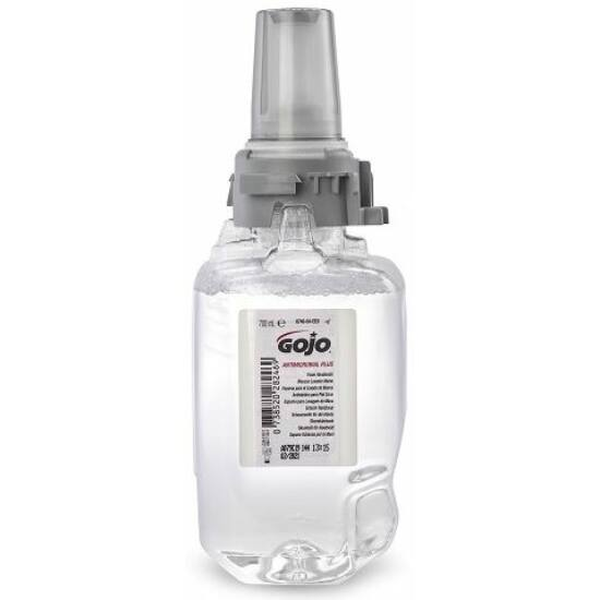 GOJO Antimikrobiális Plus fertőtlenítő kézmosó habszappan patron, ADX, 700 ml
