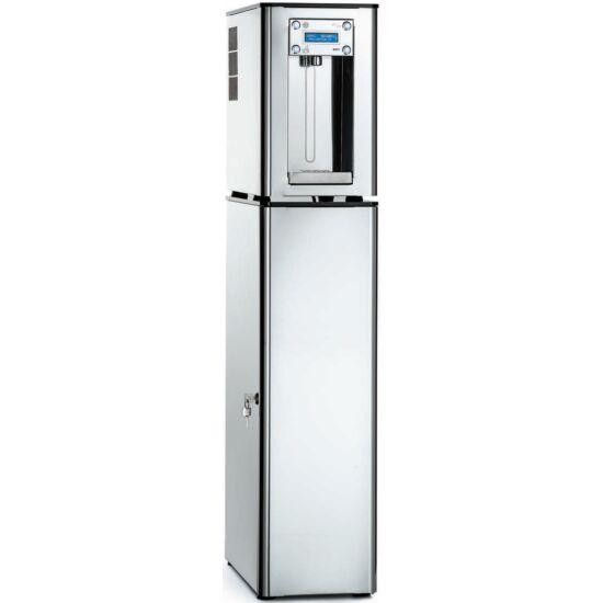 TIVOLI 270 PLEX hűtött vizes ivókút KIT 17-59 liter / óra kapacitású Silver Turbo Clean hűtőrendszerrel, kiépített CO2 rendszerrel, rozsdamentes acél burkolattal, kabinettel