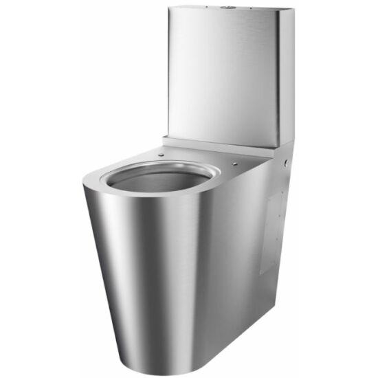 Vandálbiztos mozgássérült monoblokk WC öblítőtartállyal, álló, r.m. acél, 1,5 mm falvastagság, 700 MR