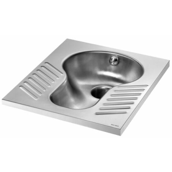 Pottyantós WC csésze XS rozsdamentes acél szifonnal - Török WC XS, kompakt kialakítás szűkös helyekre, r.m. acél, 1,2 mm falvastagság