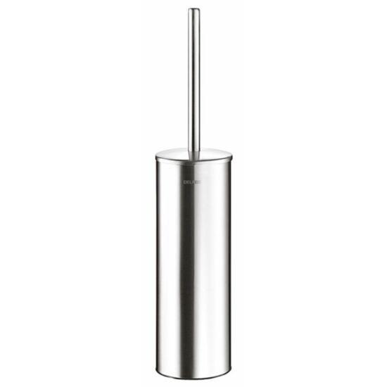 DELABIE fali WC-kefe, r.m. acél, selyem, AISI304-es rozsdamentes acélból, 1 mm vastag, biztonsági rögzítéssel