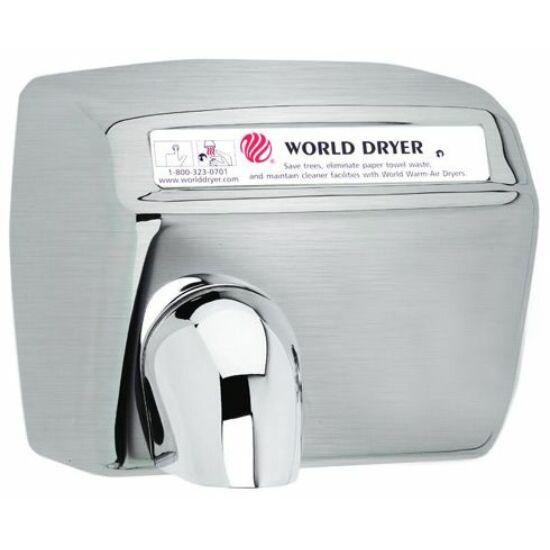 DXA548-973 World Dryer Model A automata kézszárító, r.m. acél, selyem, 2300W